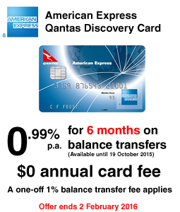 American Express Qantas Discovery Card