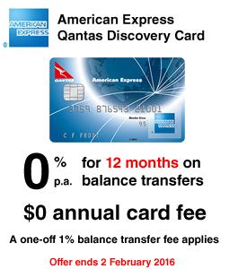 American Express Qantas Discovery Card