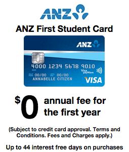 ANZ First Student Card Offer