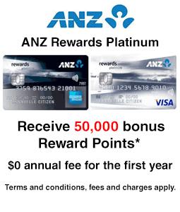 ANZ Rewards Platinum - Rewards Offer
