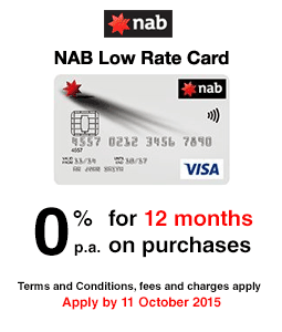 NAB Low Rate Credit Card - Low Interest Rate Offer