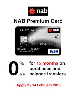 NAB Premium Card - 0% Balance Transfer hero - PE-15051