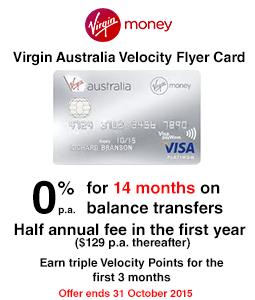 Virgin Australia Velocity Flyer Card - Balance Transfer Offer