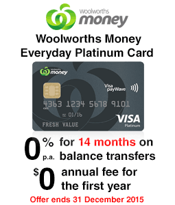 Woolworths Money Everyday Platinum Credit Card