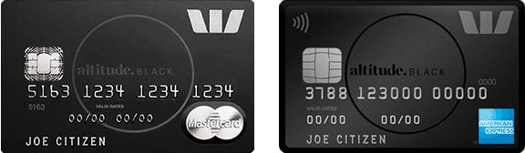 Westpac altitude black cards