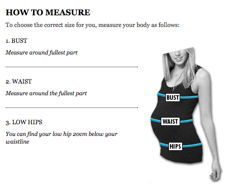 asos maternity measurements