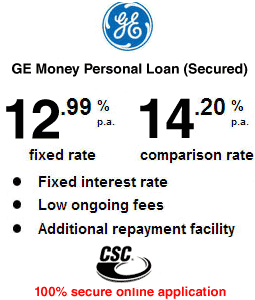 GE Money Personal Loan (Secured)